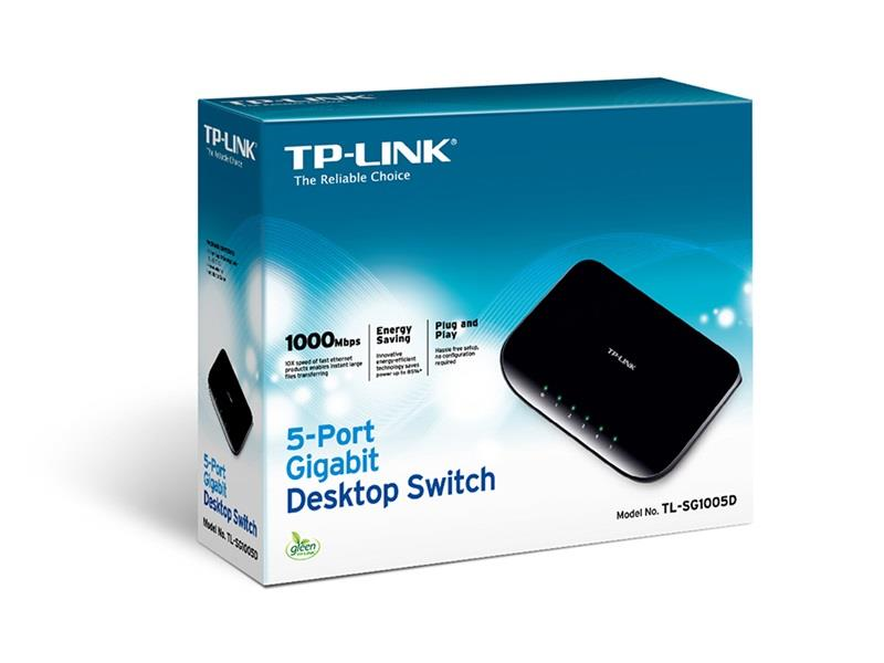 SWITCH 5P 10/100/1000 TP-LINK TL-SG1005D